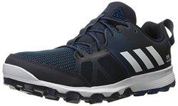 adidas Outdoor Men's Kanadia 8 Trail Runner, Night Navy/White/Tech Steel, 11 M US
