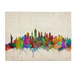 16 in. x 24 in. New York Skyline Canvas Art