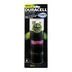 Duracell 10' Flat Micro USB to USB Sync and Charge Cable (White)