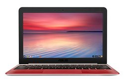 ASUS C201PA-DS02-LG 11.6-Inch Chromebook (Rockchip RK3288 1.8GHz Quad-Core, 4GB DDR3, 16GB SSD + TPM, Chrome OS), Lotus Gold/Red