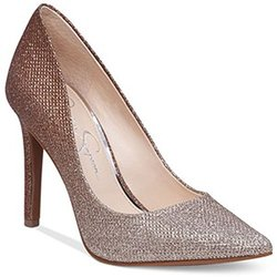 Jessica Simpson CASSANI Pointy Toe Dress Pumps - Bronze - Size: 8