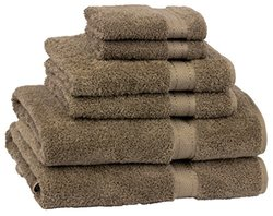 Cambridge Towel Grand Egyptian 6-Piece Bath Towel Set, Earth