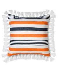 """Threshold 18x18"""" Stripe Tassel Decorative Pillow - Multicolor"""