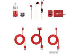 Acesori Universal Apple Certified 6-in-1 Accessory Kit - Red