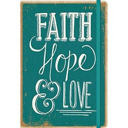 Orange Circle Faith Hope & Love Hardcover Weekly Planner