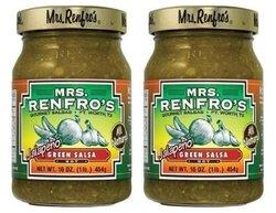 Mrs. Renfro Jalapeo Green Salsa Hot - 6 Pack - 16 oz.each