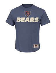 NFL Men's Short Sleeve Posted Victory IV Crew Neck Tee -Navy Heather Sz: M