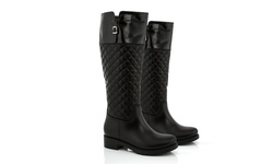 Snow Tec Riding Boot With Waterproof Outsole: Black - 7