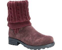 Muk Luks Women's Kelby Boots - Burgundy - Size: 6