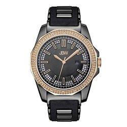 Jbw Regal Diamond Watch: J6332d - Black/grey Band/black/rose Gold Dial
