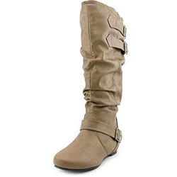 Journee Collection Women's Wide-Calf Low-Wedge Boots - Taupe  9WC