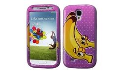 Bannana Verge Hybrid Case For Galaxy S4 - Electric Purple