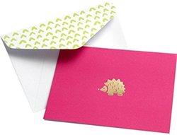 Gartner Studios Pink & Gold Hedgehog Blank Cards with Envelopes - 10 Count