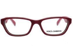 Dolce & Gabbana Women's Designer Eyewear - Pink/Red Frame - 54-16-135