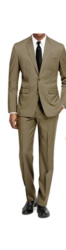 Braveman Men's 2pc Slim Fit Suit - Tan - Size: 46Rx40W
