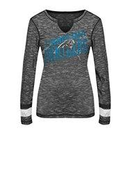 VF LSG NFL Women's Carolina Panthers T-Shirt - Black Staccato/Black - Sz:L