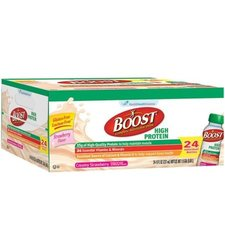 Nestle Boost High Protein Drink Pack of 24 - Creamy Strawberry