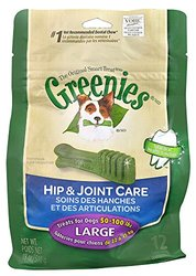 GREENIES Hip & Joint Care Canine Dental Chews Large Dog 18 Oz., Pack of 3