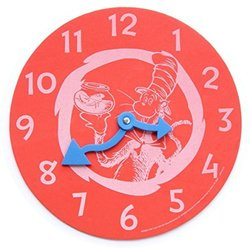 Dr. Seuss Cat In the Hat Foam Learning Clock - Red