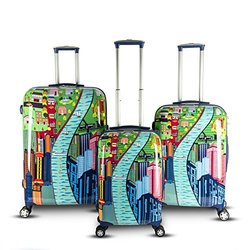 "Dasein Gabbiano 29"" Chic Collection Spinner Luggage Set - City View"