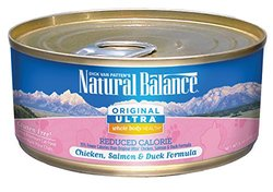 Natural Balance Reduced Calorie Canned Cat Recipe