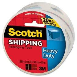 3M Scotch 1-7/8-in x 54.6 yd Clear Packing Tape