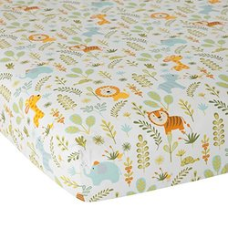 Dena Happi Crib Sheet  Happi Jungle - Size: 28x52""