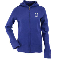 Antigua Indianapolis Colts Women's Sunday Full Zip Hoodie - Royal Blue - L