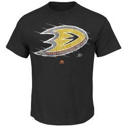 Majestic Athletic NHL Men's Pond Hockey T-Shirts - Black - Size: Medium