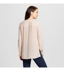 Merona Women's Utility Top - Pink - Size: X-Large
