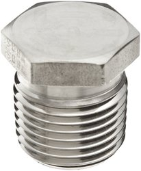 """Parker 316 Stainless Steel Hex Head Plug - MNPT 1/2"""" Pipe Size: 1 Each"""