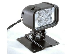 Larson 4 LED Light with Permanent Mount Plate 12 Watts - Black