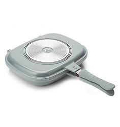 Cook's Companion Ceramic Nonstick Low Pressure Versa II Flip Pan - Silver
