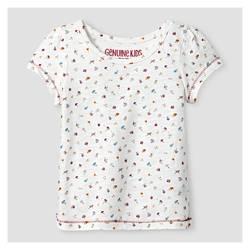 Oshkosh Girl's Slub Jersey Top & Cord Skirtall 2 Pc Set - Red - Size: 5T