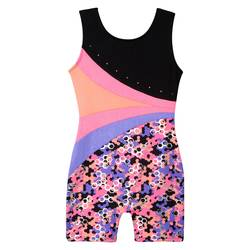 Freestyle by Danskin Girl's Honeycomb Biketard - Multi - Size: Large