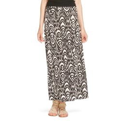 Mossimo Women's Printed Maxi Skirt - Black/white - Size: Large