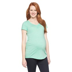 Liz Lange Women's Maternity Spring Brittany Top - Nettle Green - Size: L