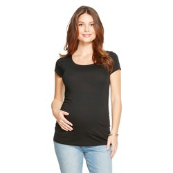 Liz Lange Women's Maternity Scoop Neck Short Sleeve Tee - Grey - Size: XL