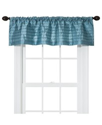 "Threshold Silk Stripes Window Valance - Blue - Size: 54""x15"""