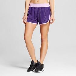 C9 Champion Women's Solid Mesh Training Shorts - Rich Purple - Size: Small