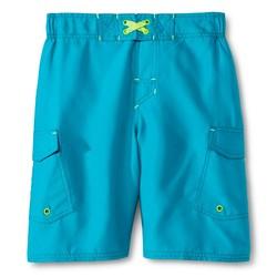 Cherokee Boys' Solid Volley Swim Trunk - Boardwalk Blue - Size: Large