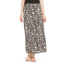 Mossimo Women's Printed Maxi Skirt - Black/white - Size: Small