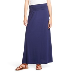 Mossimo Women's Plain Pattern Maxi Skirt - Oxford Blue - Size: XL