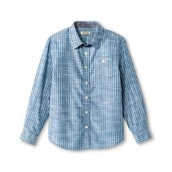 Cherokee Kids Boys' Stripe Button Down Shirt Blue - Size: Large