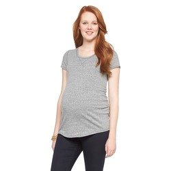 Liz Lange Women's Maternity Spring Brittany Top - Dark Heather - Size: XS
