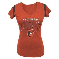MLB Women's Baltimore Orioles V-neck T-Shirt - Orange - Size: M