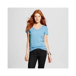 Mossimo Women's Vee T-Shirt Hawaiian - Blue - Size: Large