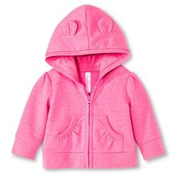 Cherokee Newborn Girls' Critter Hoodie - Dazzle Pink - Size: 3-6 M