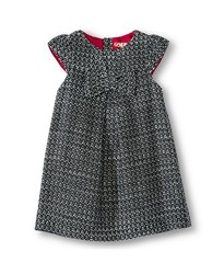 Oshkosh Toddler Girls' Woven Dress - Black/White - Size: 12 M