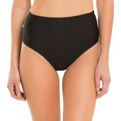 Shade & Shore Women's Open Back High Waist Bottom - Black - Size: 12